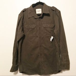Old Navy army green button-up